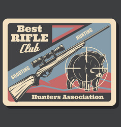 Retro poster for hunters association vector