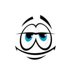 Satisfied smiley in good mood isolated vector