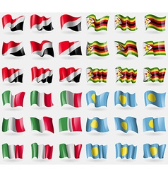 Sealand Principality Zimbabwe Italy Palau Set of vector image