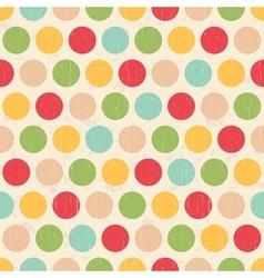 seamless grunge circles polka dots background text vector image