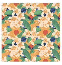 seamless summer hawaiian tropical pattern vector image