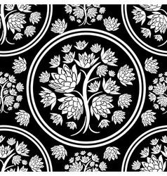 Seamless tree pattern 08 vector