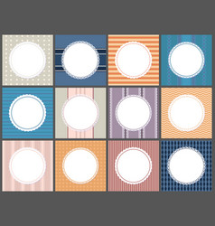 set poster round frame spare place for text vector image