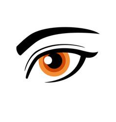 simple beautiful female human eye icon vector image