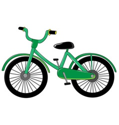 Small green bike vector image vector image
