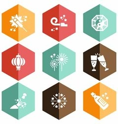 Solid icons party vector