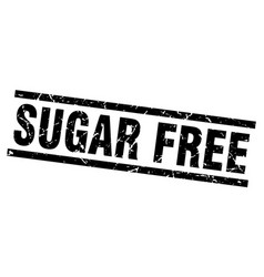 Square grunge black sugar free stamp vector