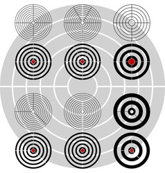 stencils of targets second variant vector image