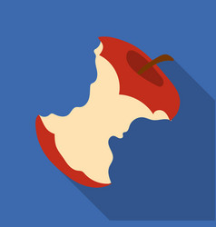 stub of apple icon in flate style isolated on vector image