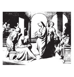 The naming of st john is a painting by johann vector