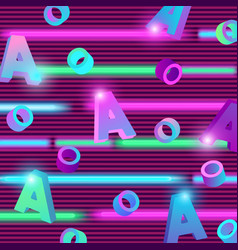 trending abstract neon background with letters a vector image