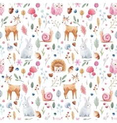 Watercolor baby pattern vector image