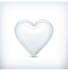 White heart icon vector image vector image