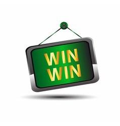 Win win icon buton label vector