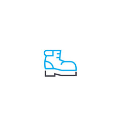 winter boots thin line stroke icon winter vector image