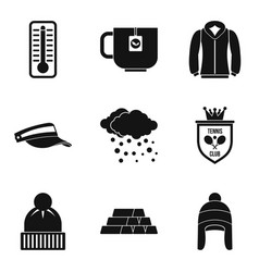 Women passion icons set simple style vector