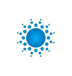 abstract circle dot logo vector image