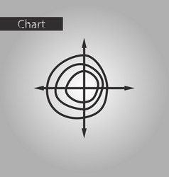 black and white style icon chart thin circles vector image