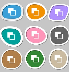 Active color toolbar icon symbols Multicolored vector image vector image