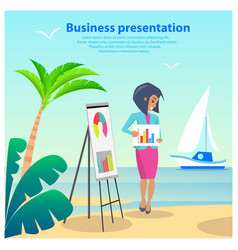 business presentation woman vector image