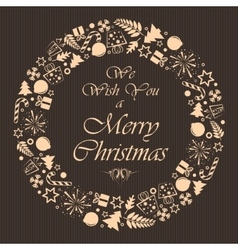 Christmas brown background vector image