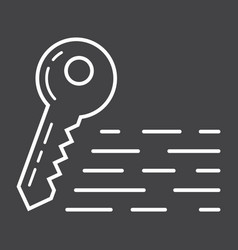 keywords line icon seo and development vector image vector image