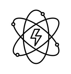 line energy hazard symbol of power industry with vector image vector image