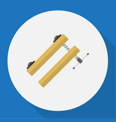Of tools symbol on clinch flat vector