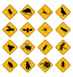rodent and pest signs vector image