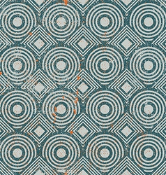 Vintage geometric seamless background old repeat vector image vector image