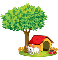 A white dog vector image vector image