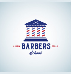 barbers school abstract sign emblem or vector image vector image