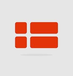 Denmark flag a stylized flag danish of geometrical vector