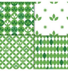 spring leaves patterns vector image