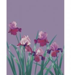 subtle flower background vector image