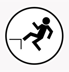 warning and danger sign attention symbol vector image vector image