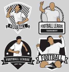 Football soccer badges patches vector image