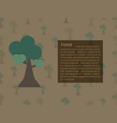 growing forest and text box vector image
