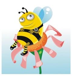 happy thick bee vector image vector image