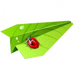 leaf airplane vector image vector image