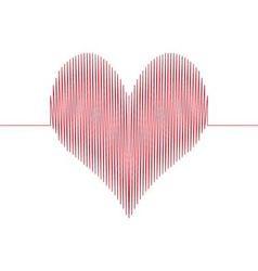love wave heart vector image vector image