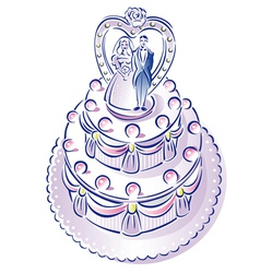 weddingcake vector image vector image
