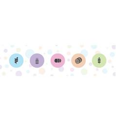 5 rye icons vector