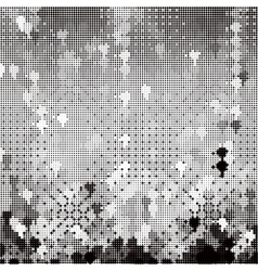 abstract mosaic with halftone effect vector image