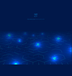 abstract technology blue wire network futuristic vector image
