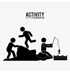 Activity icon design vector