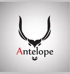 Antelope design on background vector