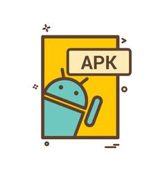 Apk file format icon design vector