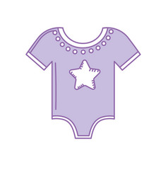 baby clothes that used to sleep vector image