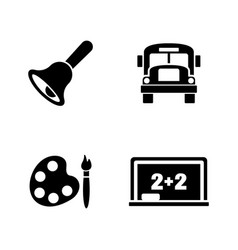 back to school simple related icons vector image